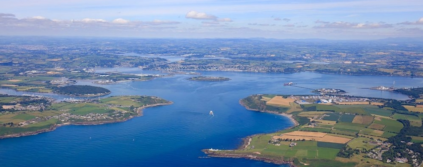 Aerial photo of Cork Harbour, Ireland